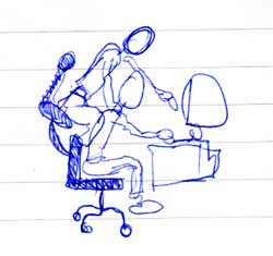 Creative Director Chair original sketch